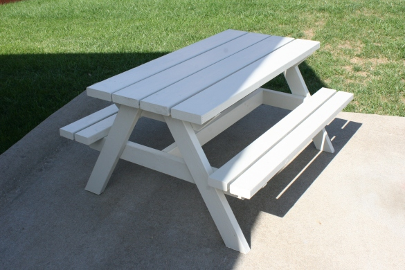 plans to build a child's picnic table | Woodworking Project North ...